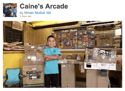 9 Year Old Builds Cardboard Arcade
