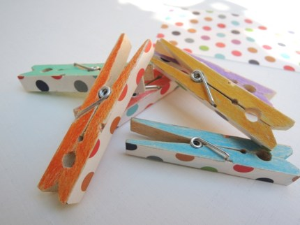 Colorful Wooden Pegs