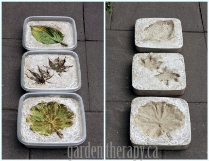 Leaf Imprint Stepping Stones