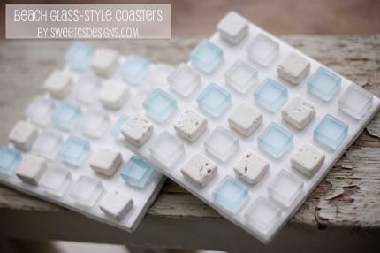 Sea Glass Style Coasters