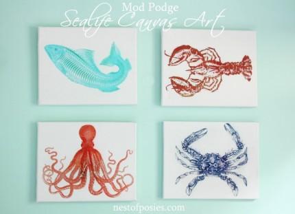Sea Life Canvas Art