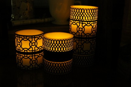 Punched Candle Wraps