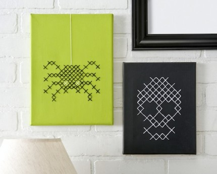 Halloween Cross Stitch Canvas