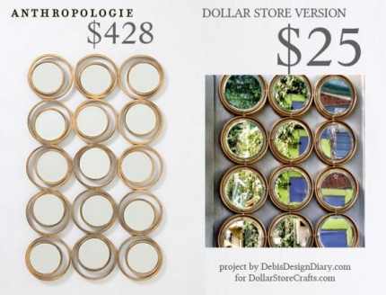 Anthropologie Inspired Circles Mirror