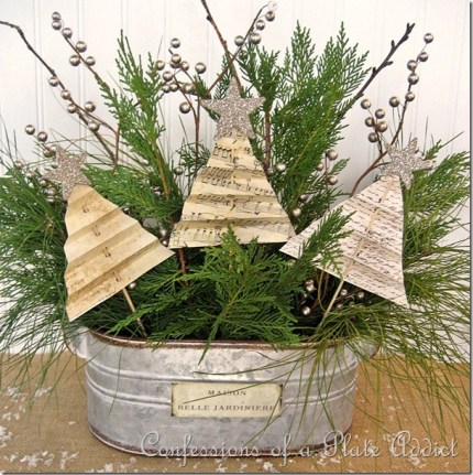 Vintage Paper Tree Centerpiece