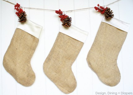 Burlap Christmas Stockings