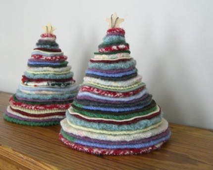 Recycled Sweater Trees