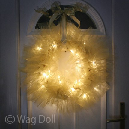 Twinkle Tulle Christmas Wreath
