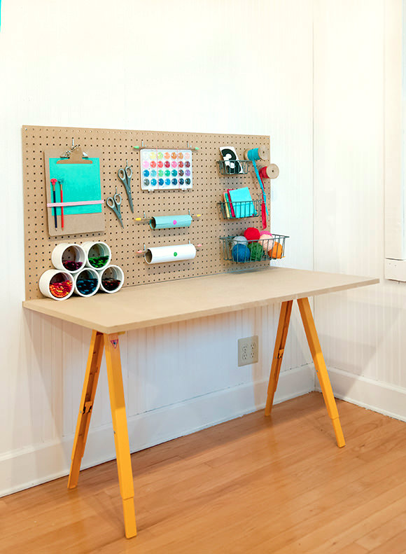 Kid s crafts work station home and garden for Craft work at home