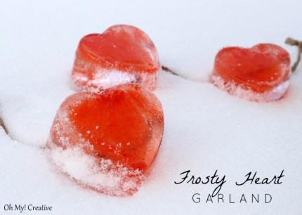 Frosty Valentine Heart Garland