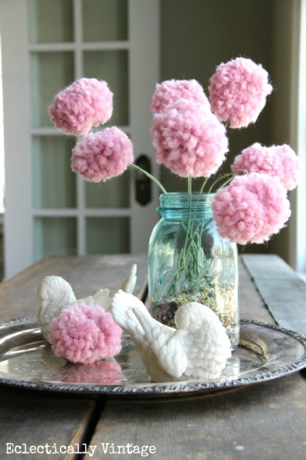 Pom Pom Flower Bouquet