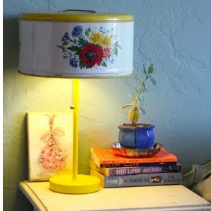 Vintage Cake Tin Lamp