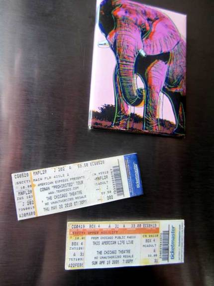 Concert Ticket Magnets