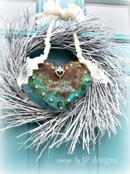 Rusty Heart Valentine Wreath