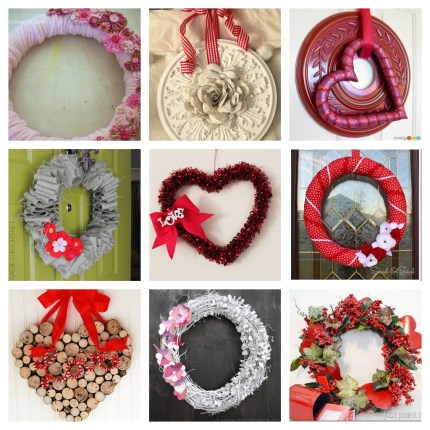 9 Valentine Wreath Crafts