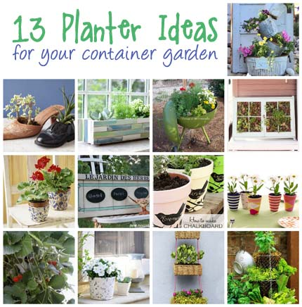 13 Planter Ideas for Your Container Garden @craftgossip