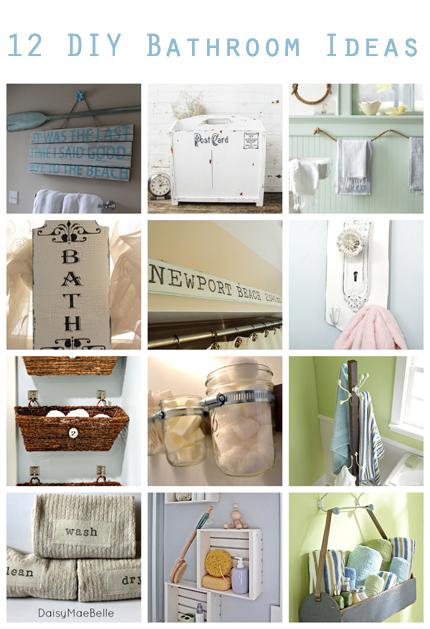 12 DIY Bathroom Ideas