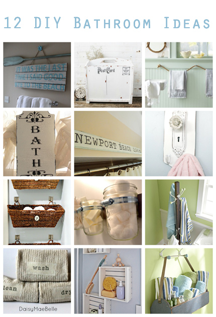 12 DIY Bathroom Ideas @craftgossip
