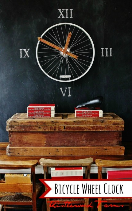 Bicycle Wheel Clock