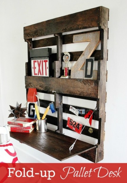 Repurposed Pallet Desk