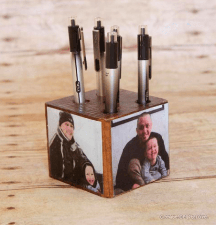 Father's Day Pen Holder @craftgossip