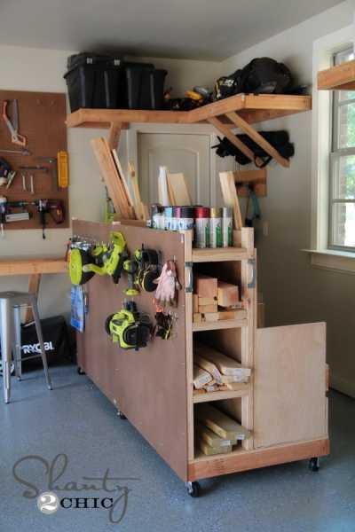 DIY Lumber Cart For Garage