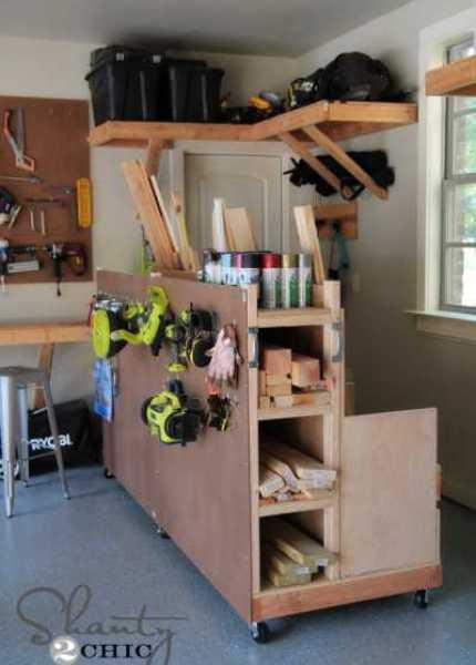 Garage-Storage-Lumber-Cart
