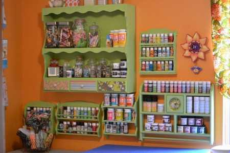 Clever Craft Paint Storage Idea Home And Garden