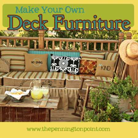 Make your own Deck Furniture