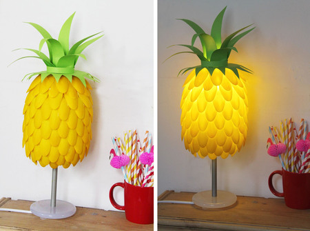 Pineapple Lamp made with Spoons