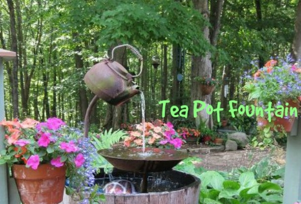 DIY Tea Pot Fountain