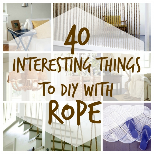 interesting diy projects to make with rope home and garden