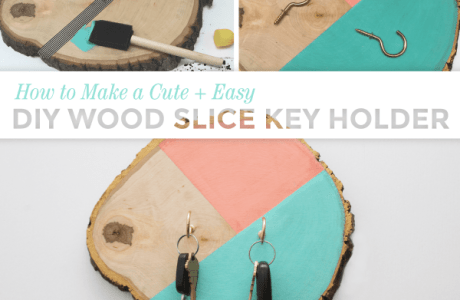 DIY Wooden Block Key Holders