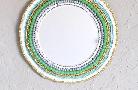 DIY Beaded Wall Mirror