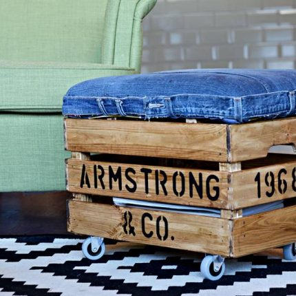 diy recycled ottoman home and garden. Black Bedroom Furniture Sets. Home Design Ideas