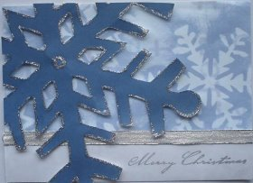 giant snowflake overlay handmade glitter xmas card with cardstock snowflake