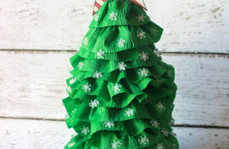 Crepe Paper Christmas Tree Decoration