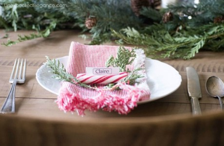 Quick & Easy Christmas Table Idea