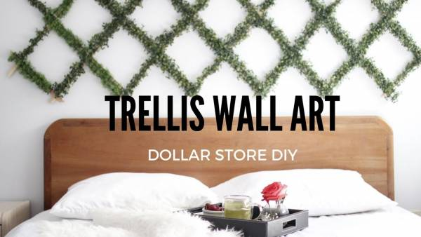 DIY Wall Trellis Wall Art