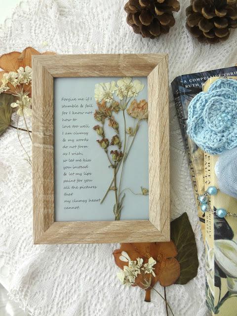 Framed Poem DIY
