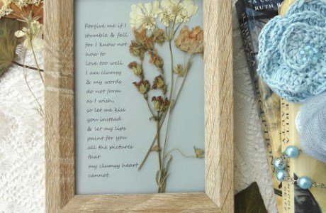 Framed Poem DIY