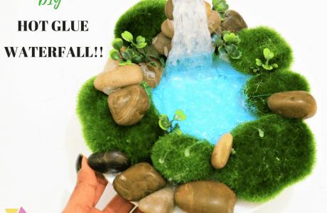 DIY Hot Glue Gun Waterfall
