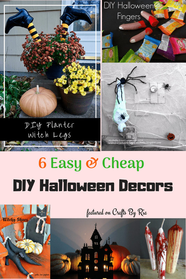this halloween roundup shows you how to make 6 halloween decorations for very little money not all halloween crafts have to be expensive and this halloween