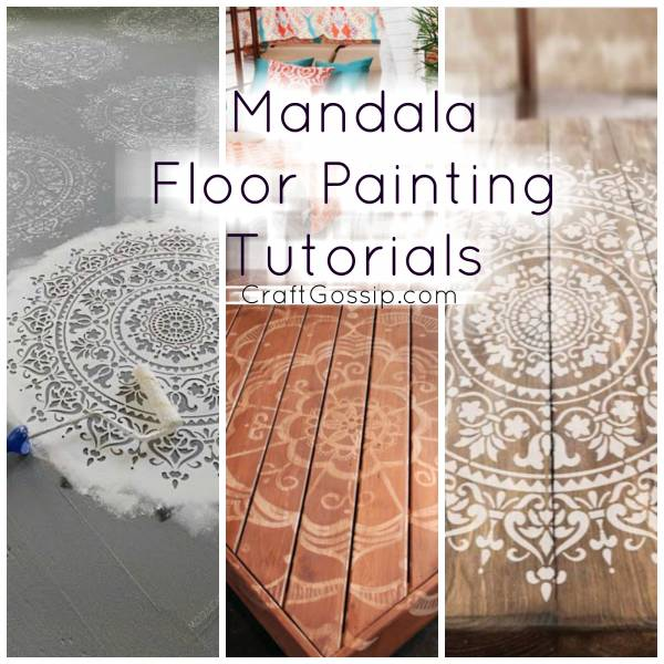 Mandala Floor Stencils And Painting Tutorials