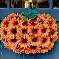 Dollar Tree Sunflower Pumpkin Wreath
