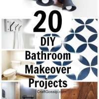 20 DIY Bathroom Makeover Projects