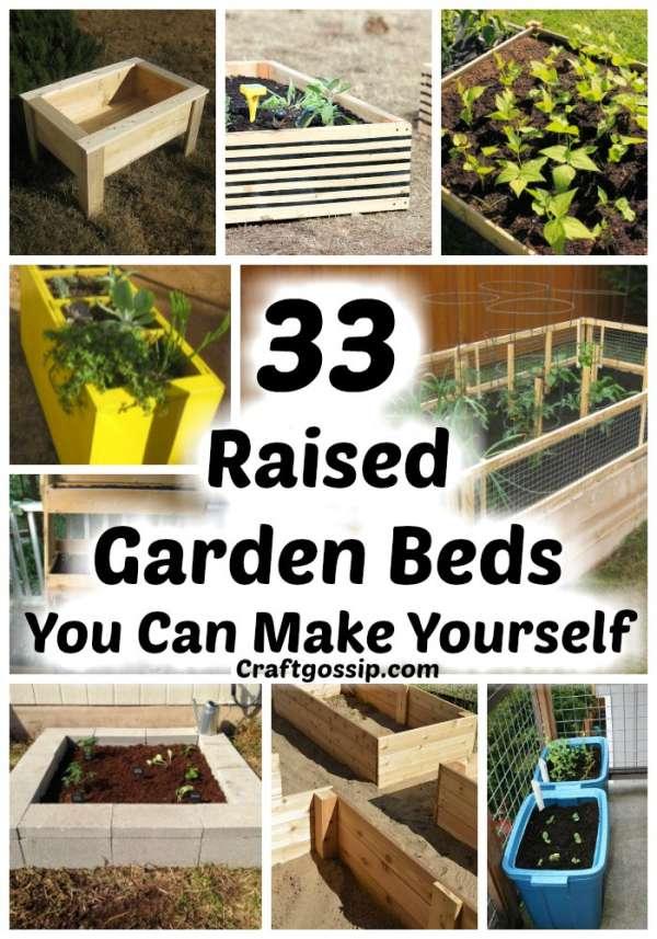 33 Diy Raised Garden Beds You Can Make, Raised Garden Bed Planter Diy