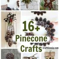 16 DIY Home Decorations Using Pine Cones