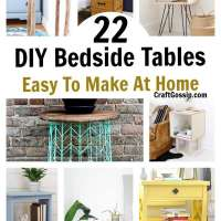 22 Easy DIY Bedroom Side Tables You Can Make Yourself