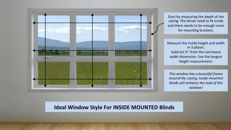 How to measure a window for inside mount blinds